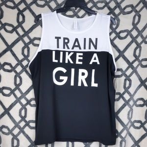 Ideology black and white Train Like a Girl Top 1x